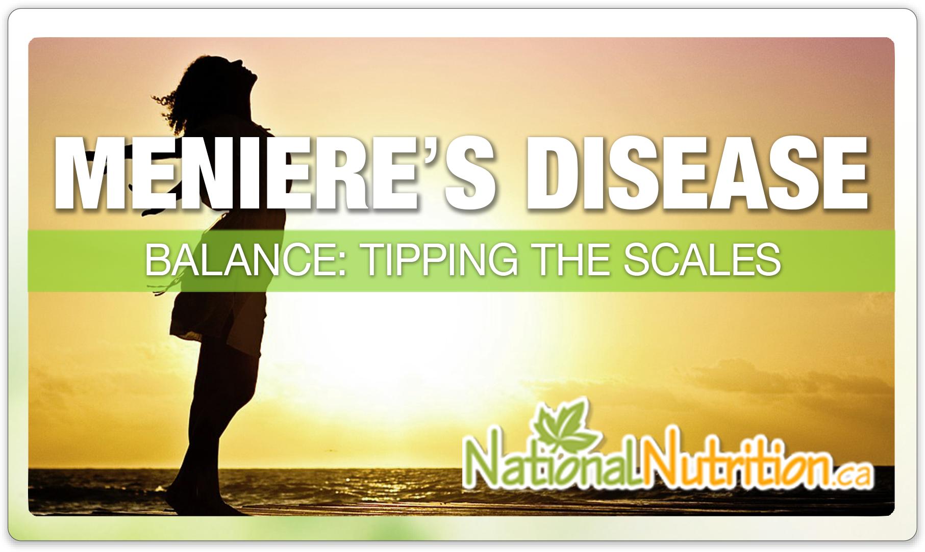 Meniere S Disease National Nutrition Articles